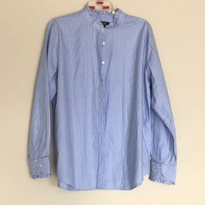 Lands End Womens Long Sleeve Button Up Blouse